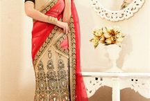 Lehenga Sarees / Get the perfect ethnic look in a candid fusion of sarees & lehengas i.e. lehenga style sarees. Choose from designer assortment of embroidered lehenga sarees from http://www.mishreesaree.com/Online/Sarees/Lehenga-Sarees