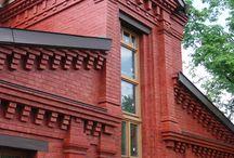 Кирпичный дом с колоннами / Фотографии построенного, частного дома, площадью 150 м2