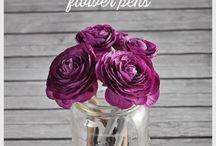 Flowers for pens