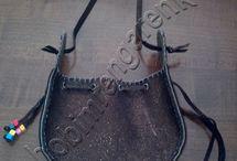 Büzgülü Deri Çanta - Pleated Leather Bag