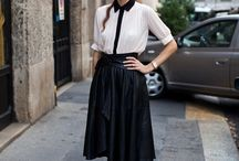Spring midi skirt outfits
