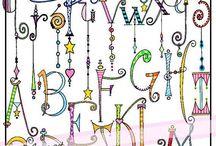 Kézzel rajzolt betűk