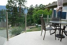 Glass decks / Glass deck railings and walls we've built. We can do similar things for you!