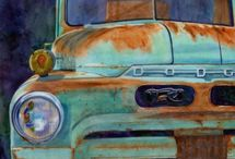 Rusty old trucks and cars / paintings and photos of rusty old vehicles / by Verna Davis Higginbotham