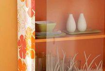 Muebles con papel pintado - Furniture with wallpaper
