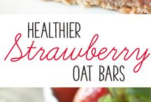 Healthier 100 % Whole Grain Stawberry Oat Bars (vegan, dairy - free options)