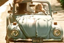 Beetle car and vw bus