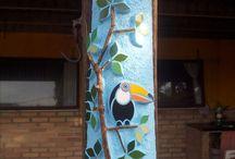 Mosaico em telha