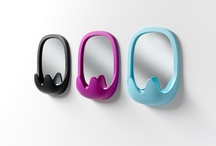 OSKAR, the multi-function wall mirror.. / OSKAR mirror, with frame in rotomoulded polyethylene! Design by Karim Rashid, in 2013 for B-LINE