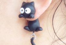 Earrings clay
