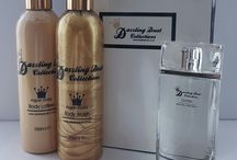 Dazzling Dust Cosmetics / We offer a Luxurious Gift Set which includes 1x 250ml Argan Gold Body Wash, 1x 250ml Body Lotion and 1x Perfume (from a selection of fantastic fragrances) & comes with a beautiful gift bag free of charge.