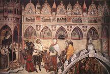 Альтикьеро да Дзевио (ок. 1330, Дзевио, Верона — ок. 1390, Верона) — итальянский художник). / Вероятно, ещё в Вероне Альтикьеро познакомился с Джотто (около 1316 года работал при дворе Кангранде), перенял его манеру, наполнив линейную структуру выразительностью и обогатив цветовую гамму. Влияние Амброджо Лоренцетти проявилось в том, что пейзажи Альтикьеро выглядят более правдоподобно, по сравнению с Джотто, и даже Тадео и Аньоло Гадди. В родном городе расписывал церковь Святой Анастасии.