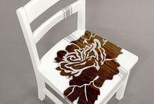 Furniture-recycled, hand painted / folk art, decoupage, hand made etc / by Judy's CreativeDoodling