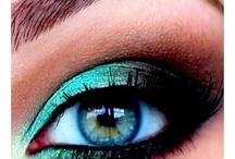 Occhi trucco verde