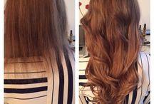 Verlocke Haarverlängerung davor und danach