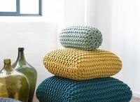 material/knit/crochet cushions