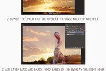 Foto's maken zoals van bewonderde fotograven / bruin tinten-lucht vervangen-hoofd switchen