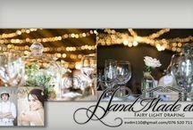 Weddings Hartbeespoort / Event fairy light draping decor done by HandMade etc. fairy light draping. Fb: https://www.facebook.com/Handmade-etc-Fairy-Light-draping-539732749516163/