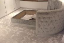 Silkresse In Living Areas / Client: Private Residence In North London. Brief: To supply & install Silkresse carpet to rooms.