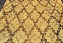 Tuareg Reed Floor Mats / Examples of some of these beautiful atmospheric floor and wall coverings we have sourced in North Africa. Please contact us to find out about available stock  info@adambray.info