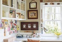 Craft Rooms I LOVE / Craft Rooms that I love - I would be inspired to work in these spaces!