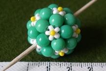 Beaded beads and pendants