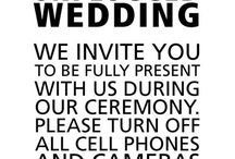 Our Wedding / Strictly elements that will be used at our wedding.