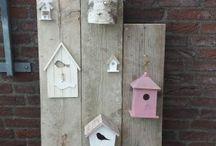 Cadeau juf / Vogelhuisjes