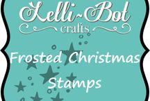 Frosted Christmas Stamp Set / This stamp set goes with the frosted Christmas kit