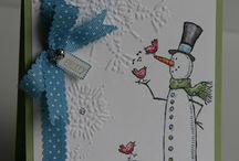 Kortit 2 ( lumiukko + joulu )