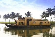 Backwater Retreats / Houseboat at Alleppey , Kumarakom , Kollam in Kerala / Kerala is splendid with its lush green coconut trees, the serene backwaters and the promise of soothing Ayurvedic massages. The unique feature of Kerala is its backwaters. It has a network of lakes, canals, and rivers opening into the Arabian Sea. The canals connect villages and are still used for local transport. The backwaters are self-supporting eco-system full of aquatic life. Ashtamudi is the second largest backwaters in Kerala.