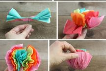 flowers tissue paper