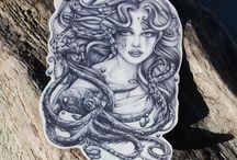 Mermaids, Octopus & Beach Tattoos