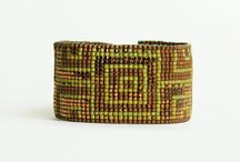 Gorgeous 100% hand made bead-loomed bracelet