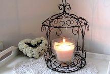 drátkování lucerny svícny