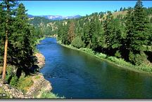 Clark Fork River / Flyfishing on the Clark Fork River Montana. One of the best places to fly fish.