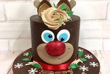 Xmas Reindeer Cakes