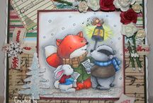 Christmas cards Dis digi stamps / Christmas cards
