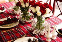tartan christmas table