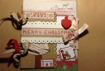 Scrapbooking Natalizio. / Album, minialbum e tag per Natale.