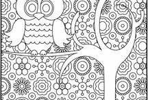 Adult coloring pages / by Mona Murphy