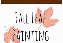 Leaf painting playcenter