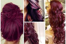 Hair Color Dark Pink