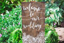 Wedding - signage