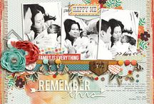 Layout Inspiration - graphic flowers