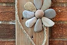 Wood and stones decorations