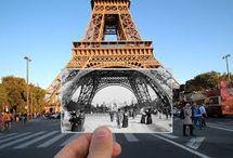 Julien Knez / Fotografa francese che ha voluto ricostruire la storia di Parigi tramite accostamenti fotografici.