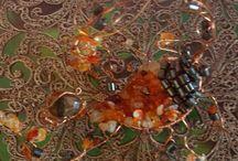 Copper Crystal Sculptures / Hand Made Crystal Sculptures