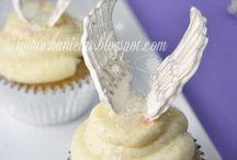 Angel inspiration / Ejemplos de decoración de cupcakes con ángeles
