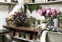Racó taula flors